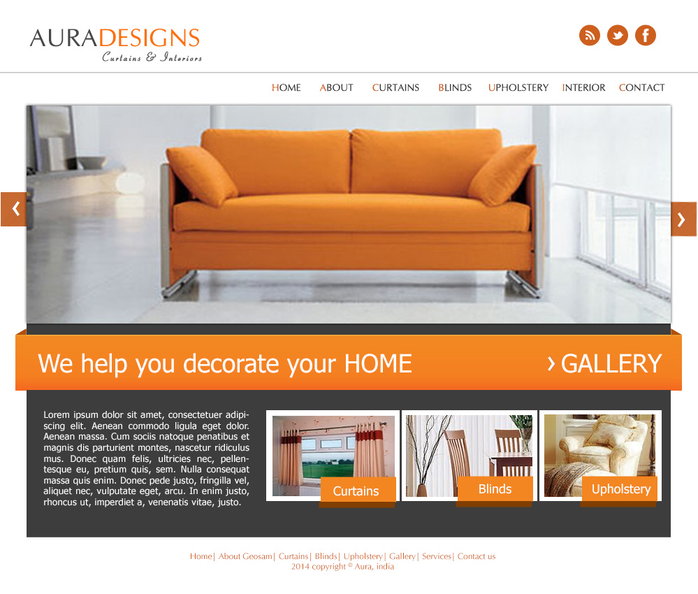 Furniture U0026 Interior Design Website Template